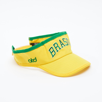 Embroidered Visor Cap with Snap Closure