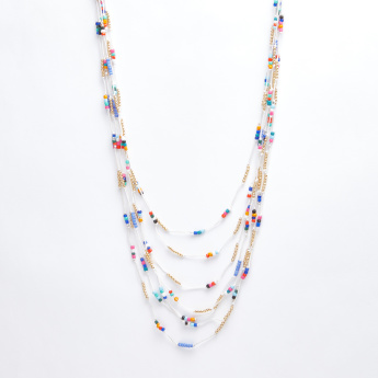 Beaded Multilayer Necklace with Lobster Clasp