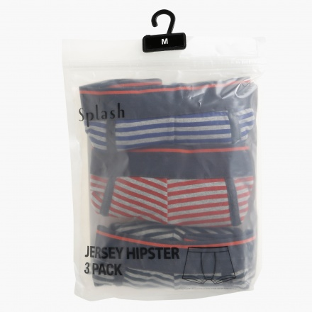 Knitted Jersey Hipster Briefs - Pack of 3