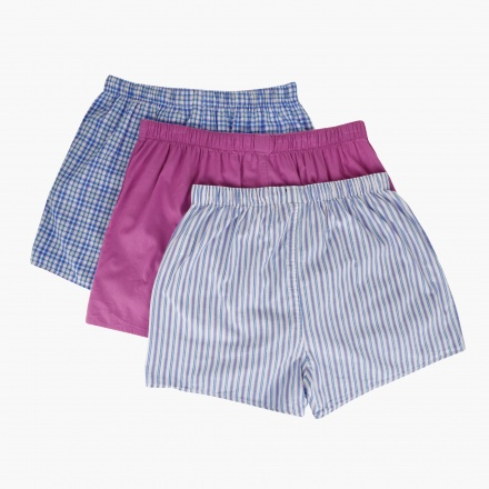 Cotton Woven Boxers - Pack of 3