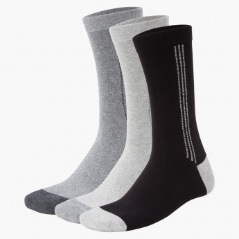 Crew-length Formal Socks - Set of 3