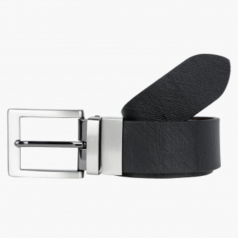 Textured Belt with Pin Buckle Closure