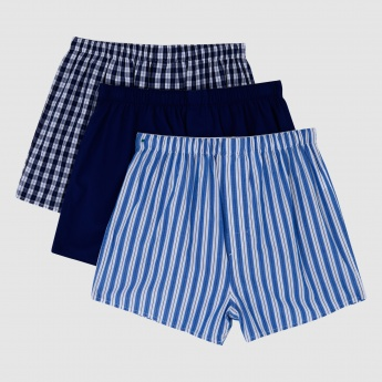 Boxer Shorts with Elasticised Waistband - Set of 3