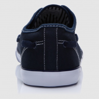 Lace-Up Shoes with Stitched Detail