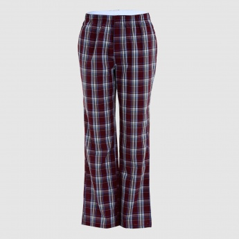 Chequered Full Length Pyjama with Elasticised Waistband - Set of 2