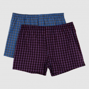 Chequered Boxer Briefs - Set of 2