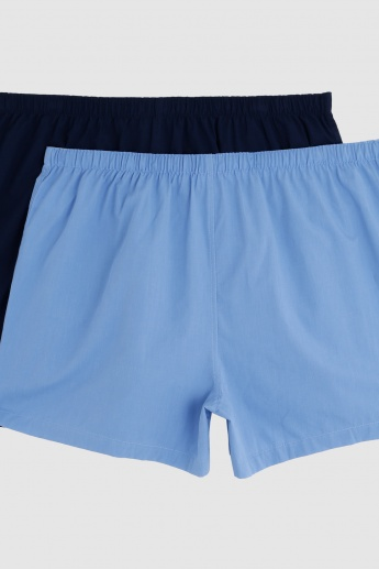 Boxers with Elasticised Waistband - Set of 2