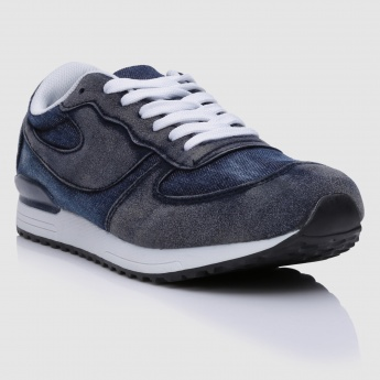 Denim Lace-Up Shoes