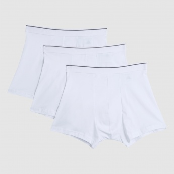 Trunks with Elasticised Waistband - Set of 3