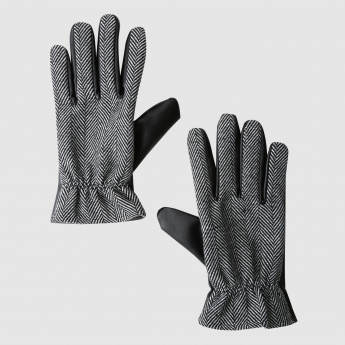 Textured Gloves with Elasticised Band
