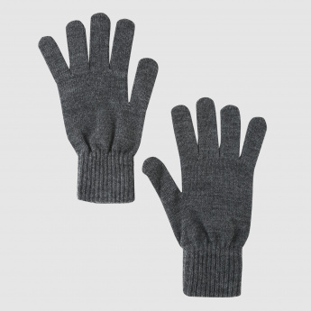 Gloves with Ribbed Cuffs