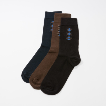 Textured Quarter Length Socks - Set of 3