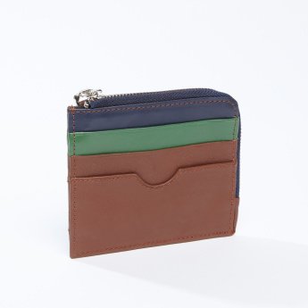 Pocket Detail Wallet with Zip Closure