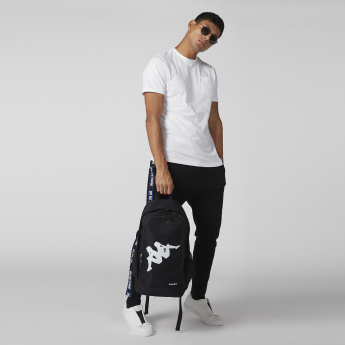 Kappa Printed Backpack with Zip Closure