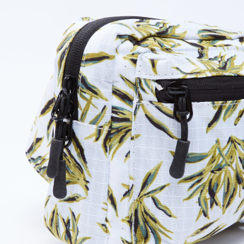 Floral Printed Fanny Pack with Buckle Closure