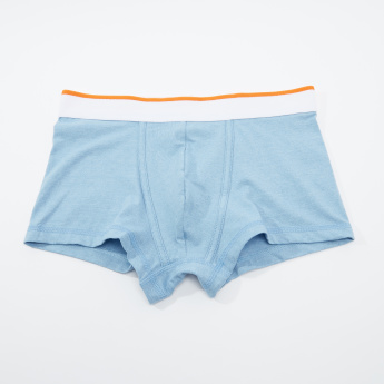 Set of 3 - Plain Trunks with Wide Elasticised Waistband