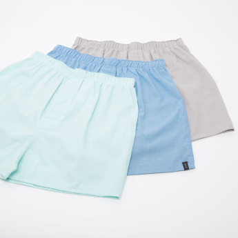 Set of 3 - Plain Boxer Briefs with Elasticised Waistband