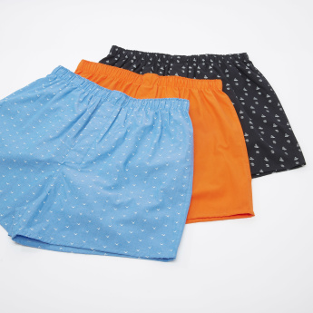Set of 3 - Assorted Boxer Briefs with Elasticised Waistband