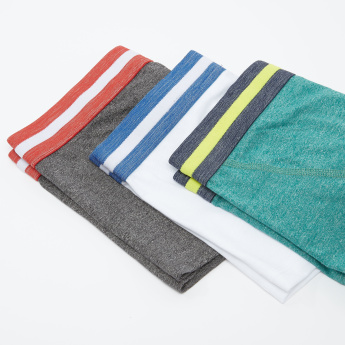 Set of 3 - Assorted Trunk with Striped Elasticised Waistband
