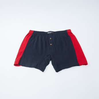 Set of 2 - Button Detail Boxers with Elasticised Waistband