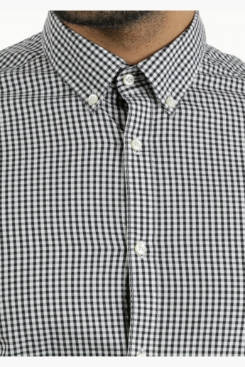 Cotton Chequered Shirt in Slim Fit