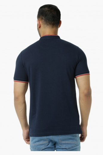 Embroidered Polo Pique T-Shirt in Slim Fit