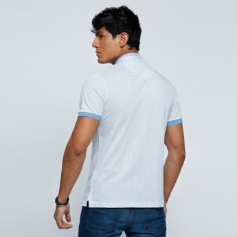 Short Sleeves T-Shirt with Mandarin Neck