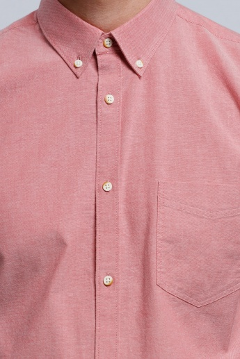 Long Sleeves Shirt with Spread Collar