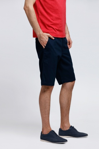 Knee Length Shorts with Pockets on the Front
