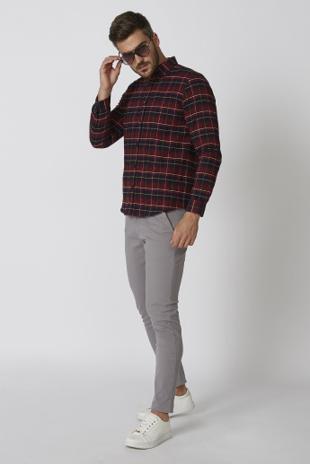 Sustainability Slim Fit Chequered Shirt with Long Sleeves