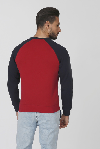 Bossini Printed Sweatshirt with Round Neck and Raglan Sleeves
