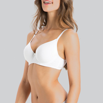 Jockey Lightly Padded Bra with Hook and Eye Closure