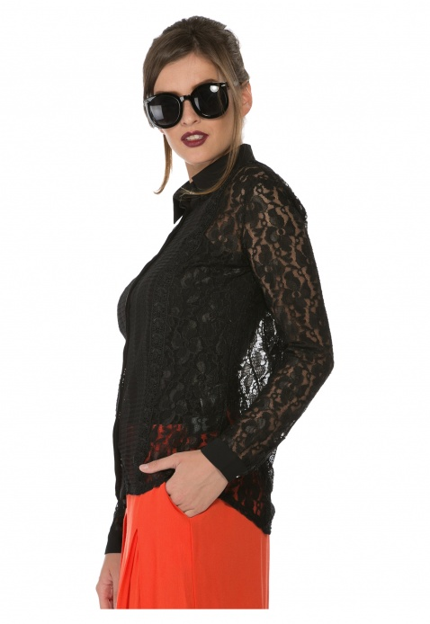 Lace Long-Sleeved Shirt