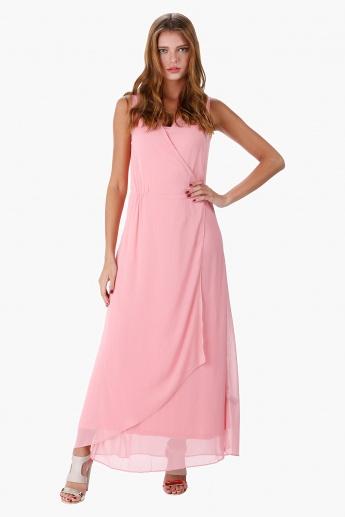 Solid Colour Maxi Dress