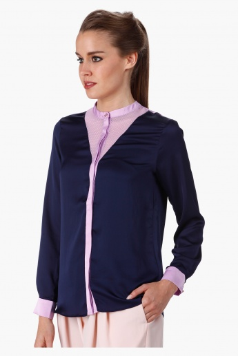 Formal Shirt with Round Neck in Regular Fit