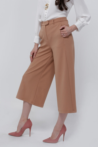 Culottes Pants with Button Closure