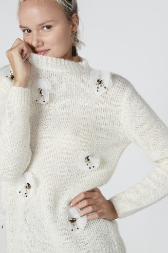 Embellished Sweater with Long Sleeves