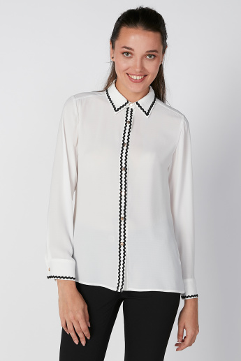 Sustainability Shirt with Long Sleeves and Complete Placket