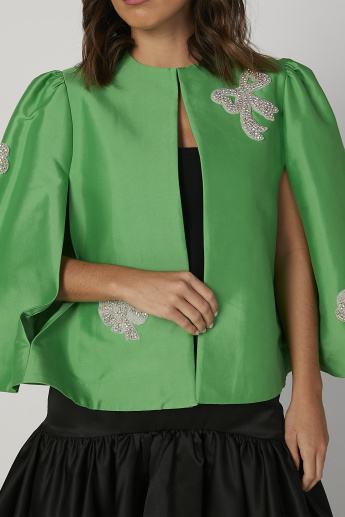Sustainability Embellished Jacket with Side Slits