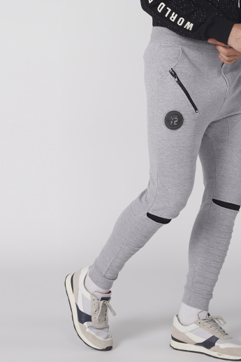 Smiley World Printed and Textured Jog Pants with Elasticised Waistband