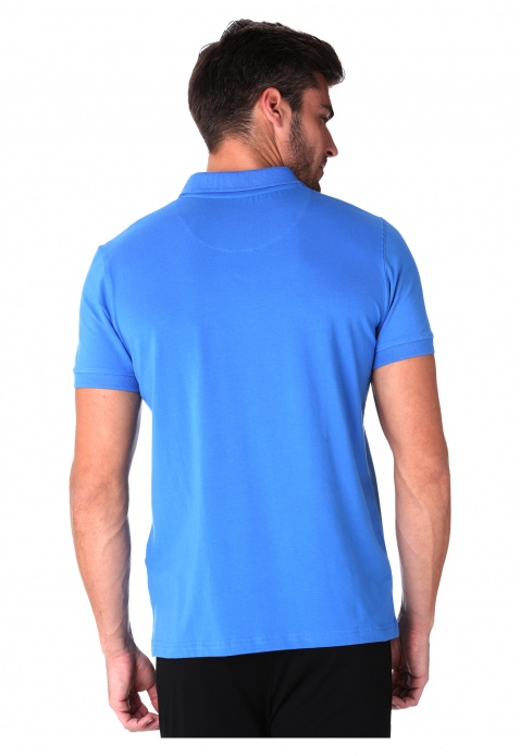 Short-sleeved Polo Neck Jersey T-shirt