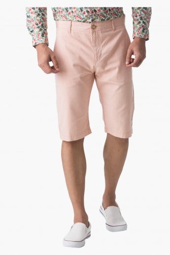 Cotton Oxford Shorts in Slim Fit