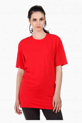 Tunic with Three Quarter Sleeves in Regular Fit