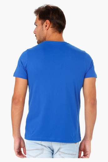 T-Shirt with Crew Neck and Short Sleeves in Regular Fit