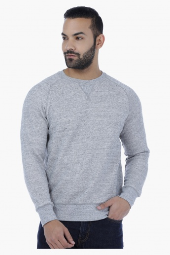 Raglan Sleeves Sweatshirt with Round Neck