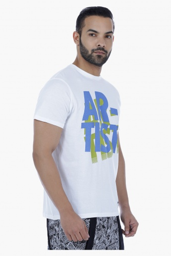 Printed T-Shirt with Short Sleeves