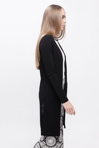 Long Sleeves Cardigan with Pocket Detail