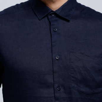 Short Sleeves Shirt with Spread Collar