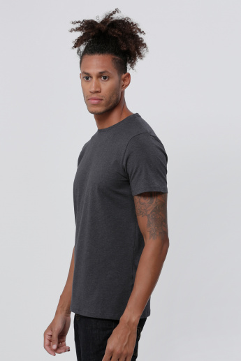 Melange Short Sleeves Round Neck T-Shirt