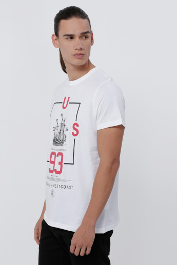 Sustainability Printed T-Shirt with Short Sleeves